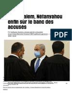 A Jérusalem, Nétanyahou enfin sur le banc des accusés - Libération