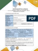 Guía de actividades y rúbrica de evaluación - Fase 2 - Apropiación de conceptos