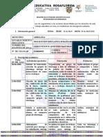 FORMATO DE INFORME ANEXO 1  PARA ENTREGAR A SED