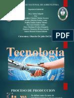 TECNOLOGIA, PROCESO DE PRODUCCIÓN
