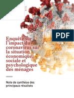 Enquête sur l'impact du coronavirus sur la situation économique, sociale et psychologique des ménages _ Note de synthèse des principaux résultats.pdf