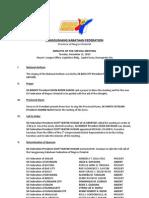 Sangguniang Kabataan Federation of Negros Oriental (Minutes Special Meeting Dec 21, 2010)