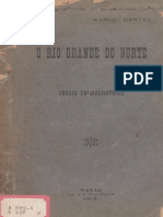 O Rio Grande do Norte- Ensaio Chrographico. DANTAS, Manoel. 1918