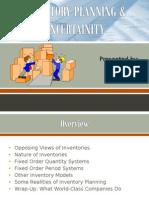 Inventory Planning & Uncertainity