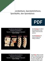 Perbedaan Spondylolysis, Spondylolisthesis, Spondylitis, Dan Spondylosis