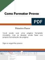 Como Formatar Provas - Simples