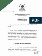 Sentencia colombiana homicidio preterintencional