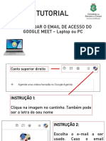 Como mudar a conta no Google Meet