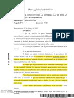 Transportes Automotores La Estrella S.a. Le Pide La Quiebra Frank, Hugo Alfredo