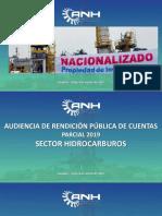 AUDIENCIA DE RENDICION PUBLICA DE CUENTAS AGENCIA NACIONAL DE HIDROCARBUROS