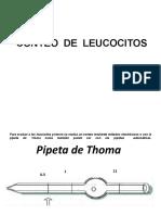 2.- TÉCNICA PARA EL RECUENTO  DE LEUCOCITOS