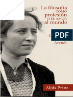 La filosofia como profesion. La vida de Hannah Arendt