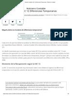 Asiento Contable_ NIC 12 Diferencias Temporarias - Noticiero Contable