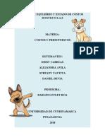 TRABAJO COSTOS PUNTO DE EQUILIBRO
