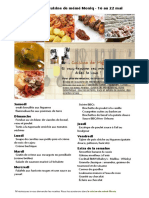 Menu de La Cuisine de Meme Moniq 16 Au 22 Mai