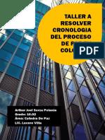 SOLUCION DE TALLER DE LA  CRONOLOGIA DEL PROCESO DE PAZ EN COLOMBIA - ARTHUR SORZA 10.02