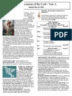 Bulletin - May 24, 2020