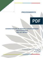 DOCUMENTO ADMINISTRACIÓN DEL RIESGO - VERSION 2.0
