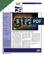 GTA Winter 2010 Newsletter
