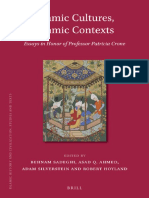 001. Patricia Crone . Islamic Cultures, Islamic Contexts