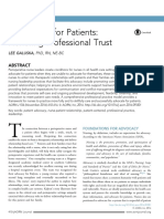 Advocating for Patients honoring professional trust 2016