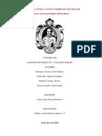 Diseño, analisis de producto y casa de calidad