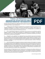 Pronunciamiento Perú Migrantes y Refugiadas