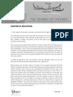 The Training of Children C25