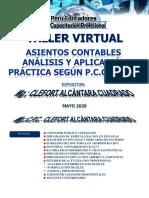 1 TALLER ASIENTOS CONTABLE - ANALISIS Y APLICACION PRACTICA SEGUN P.C.G.E. 2020 - MG CLEFORT ALCANTARA