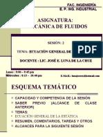 MECÁNICA DE FLUIDOS_SESION 2