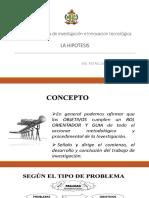 SESION N° 4 OBJETIVOS, HIPOTESIS Y VARIABLES DE LA INVESTIGACIÓN