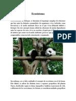 Ecosistemas definición y tipos