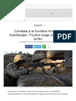 Combats à la frontière Arménie-Azerbaïdjan, Poutine exige un cessez-le-feu - L'Express.pdf