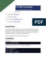 SQL Syntaxes