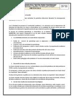 Protocolo para orientar la práctica docente durante la emergencia sanitaria COVID 19