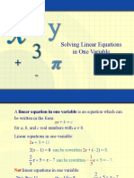 Notes-Linear Equation in one variable