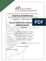 Tarea 3 Mediciones e indicadores epidemiológicos