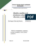 Modelos analiticos de fenomenos aleatorios