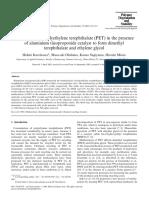 Methanolysis of polyethylene terephthalate (PET) in the presence