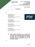 Legal Notice- Sanjeet Shankar