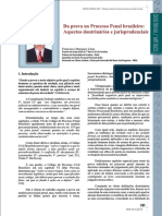 Da prova no Processo Penal brasileiro Aspectos doutrinários e jurisprudenciais
