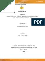 ACTIVIDAD 2 PLAN DE PREVENCIÓN Y CONTROL DE PATOLOGÍAS DE ORIGEN LABORAL CUIDADO DEL SISTEMA MUSCO-ESQUELÉTICO