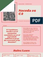 Noceda vs CA