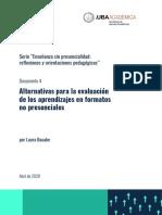 AcaDocs_D04_Alternativas para la evaluación de los aprendizajes en formatos no presenciales