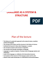 Language as a System & Structure  09 .04.17