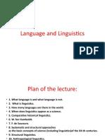Language and Linguistics 7.05.19.