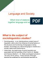 Language and Society 20.02.19