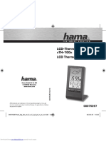hama th100 LCD weather station