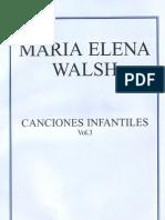 MARIA ELENA WALSH - Partituras de Canciones In Fan Tiles - [Voz y Piano] (Por Gabolio)