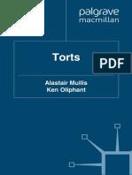 Torts by Alastair Mullis, Ken Oliphant, 2011 4th Ed.